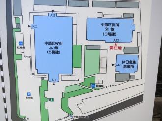 中原区役所の敷地マップ