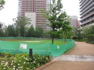 リエトコート武蔵小杉の円形広場