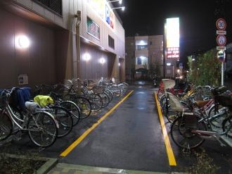 「ライフ中原井田店」の駐輪場