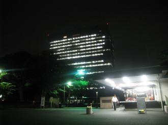 富士通川崎工場本部ビル(ライトダウン後)