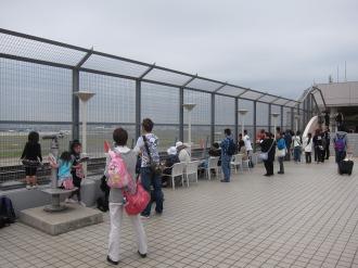 第1ターミナルの展望デッキ