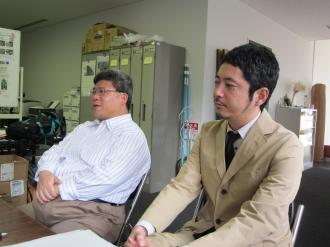 川崎市まちづくり局・植木課長補佐(左)と下田さん(右)