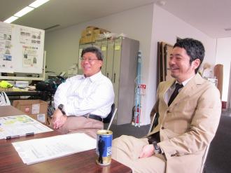 川崎市まちづくり局 植木課長補佐(左)と下田さん(右)