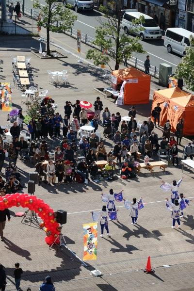 こすぎコアパークで開催された「こすぎ舞祭」