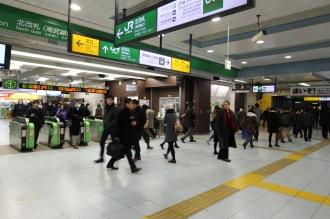多くの人が利用する武蔵小杉駅北口