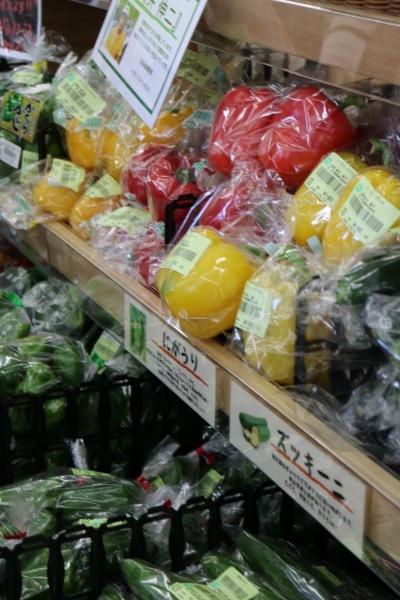 「地産マルシェ武蔵小杉店」に並ぶ野菜