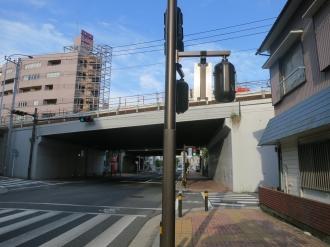 綱島街道の上丸子跨線橋