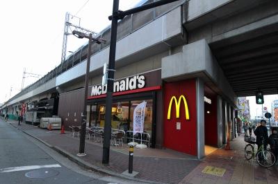 北口の「マクドナルド武蔵小杉駅前店」