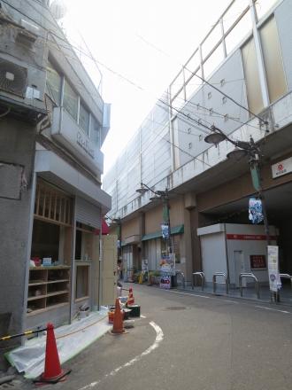 オープン準備中の「ブーランジュリー・メチエ新丸子駅前店」