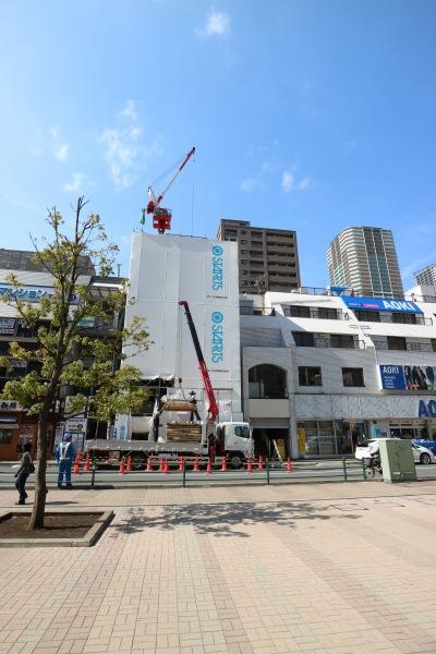 武蔵小杉駅南口のビル建設地
