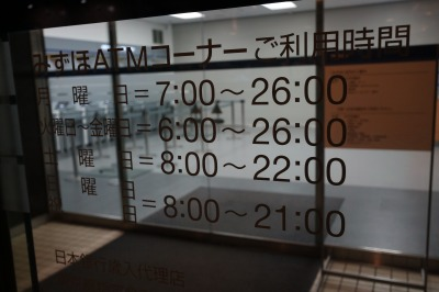ATMコーナー利用時間