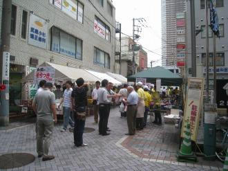 イトーヨーカドー武蔵小杉店前のもちつき大会