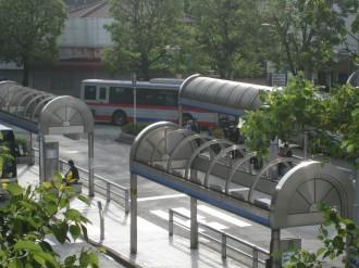 武蔵小杉駅北口ロータリーのバス停