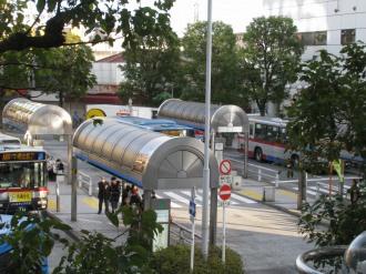 武蔵小杉北口ロータリーのバス停