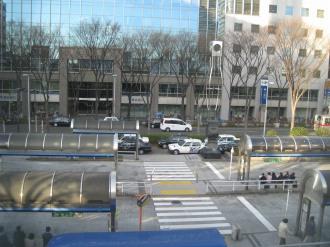JR武蔵小杉駅から見たロータリー