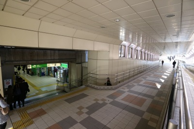 JR武蔵中原駅改札口との直結