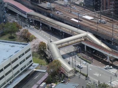 JR武蔵中原駅連絡通路