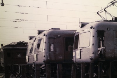 元住吉検車区の写真