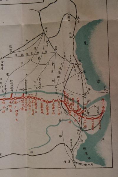 南武鉄道路線図
