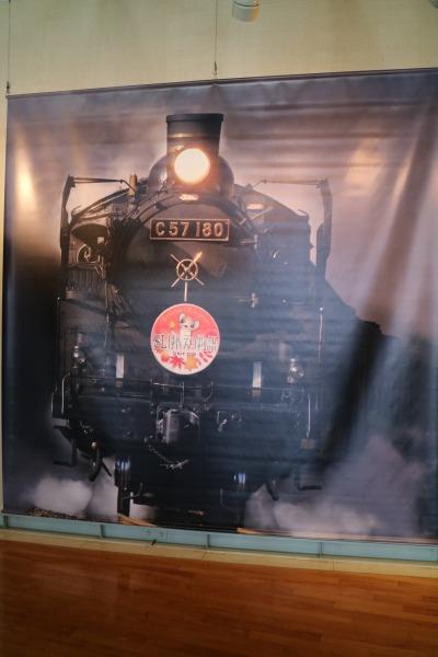 蒸気機関車のタペストリー