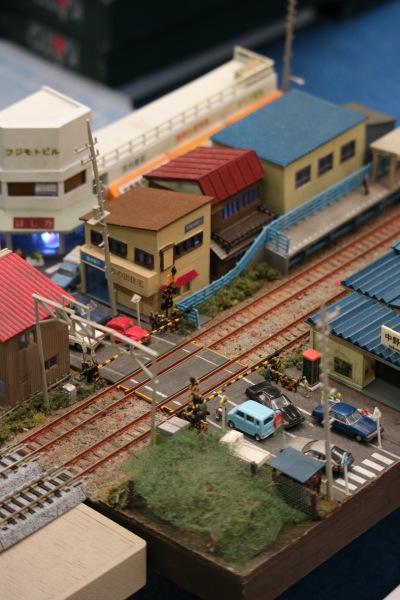 南武線中野島駅のジオラマ