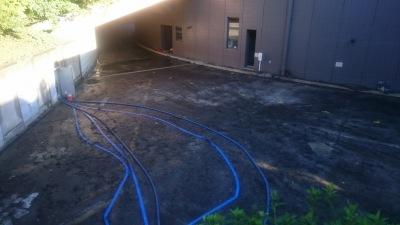 排水後の地下施設