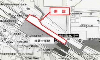 武蔵中原駅前歩道橋下駐輪場の案内図
