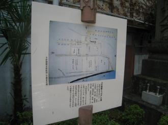 「小杉御殿と『カギ』の道」のガイドパネル