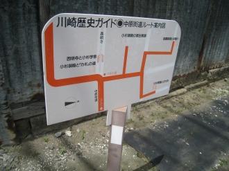 小杉御殿周辺のガイドパネル案内図