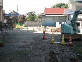 拡幅用地が取得されている未着工区域