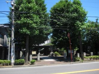 中原街道と泉沢寺