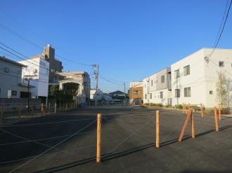 歩行者用通路未設置の道路予定地