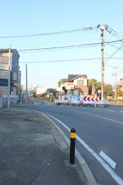都市計画道路整備中の中原街道の「カギ道」