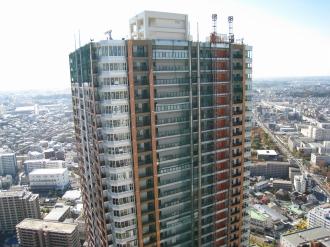 建設中のTHE KOSUGI TOWER