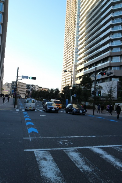 武蔵小杉新駅前の交差点