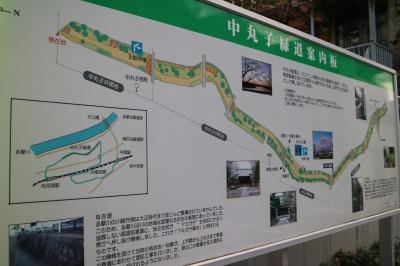 「中丸子緑道」の入口
