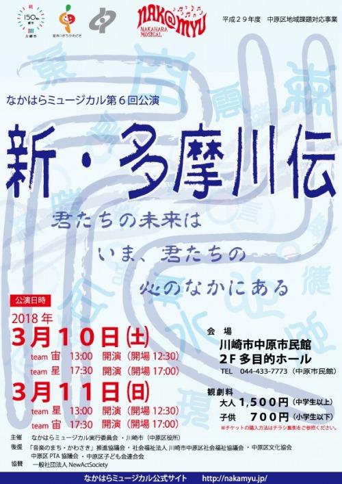 「なかはらミュージカル」第6回公演「新・多摩川伝」