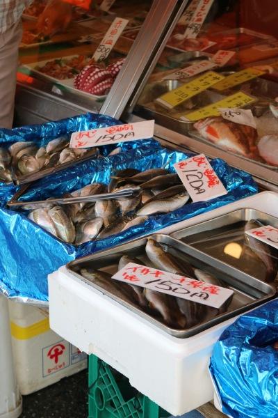 「中定鮮魚店」の魚
