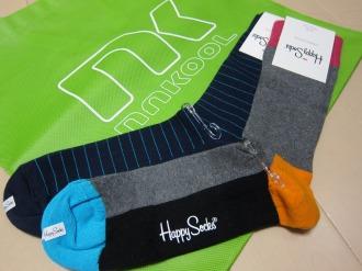 「ナクール」で購入した「Happy Socks」