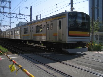 JR南武線(向河原駅付近)
