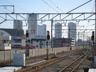 武蔵中原駅から見る武蔵小杉方面