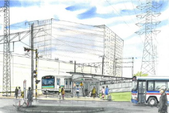 小田栄駅のイメージイラスト