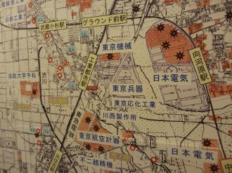 中原区の空襲地図