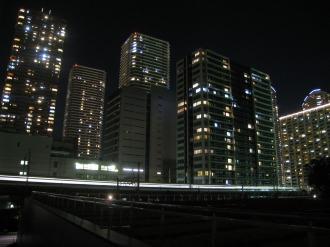 NEC玉川ルネッサンスシティから見る武蔵小杉再開発ビル群