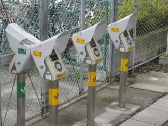 NEC専用改札のゲート
