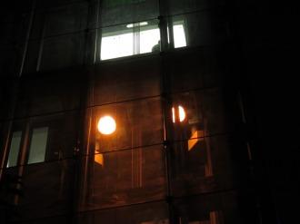 エレベーターのライトアップ