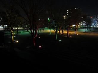 エントランス広場のライトアップ
