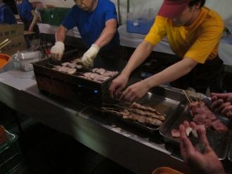 豚肉の串焼き