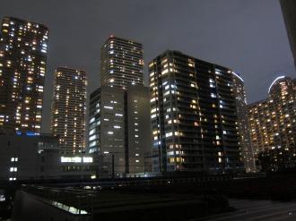 ルネッサンスシティから見える武蔵小杉の夜景