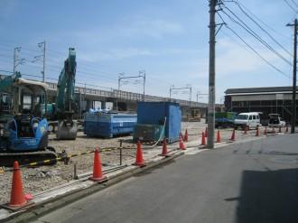 ナイスアーバン中丸子A、B建設用地(長津製作所前より)